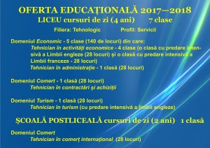 Oferta educationala-an scolar 2017-2018